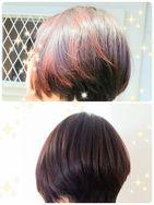 カラーリング+マニキュア