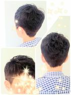 短い髪をさらに変化つけたくて